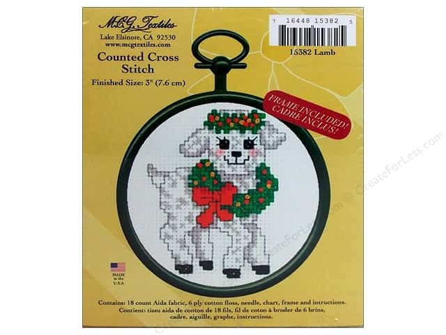M.C.G Textiles Counted Cross Stitch Kit Mini Lamb