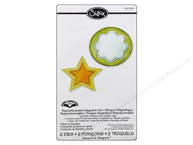 Sizzix Movers & Shapers Magnetic Die Set 2PK Star & Circle by Karen Burniston