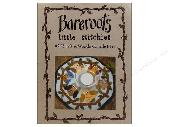 Bareroots Little Stitchies In The Woods Candle Mat Pattern