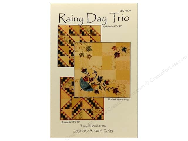 Laundry Basket Quilts Rainy Day Trio Pattern