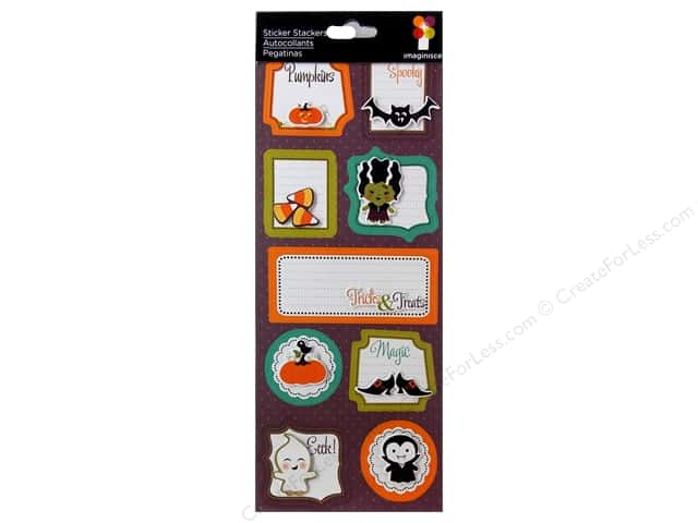 Imaginisce Stickers Monster Mash Stacker Magic Words