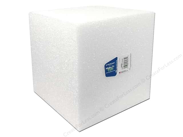 FloraCraft Styrofoam Bulk Cube 8 x 8 x 8 in. White (8 pieces)