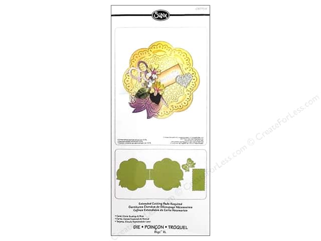 Sizzix Bigz XL Die Card Circle Scallop & Bow by Debi Adams