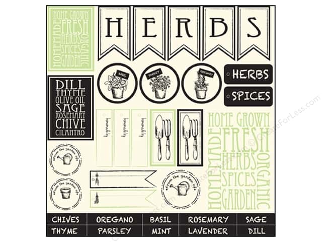 Canvas Corp 12 x 12 in. Paper Herb & Spices On Ivory (15 pieces)