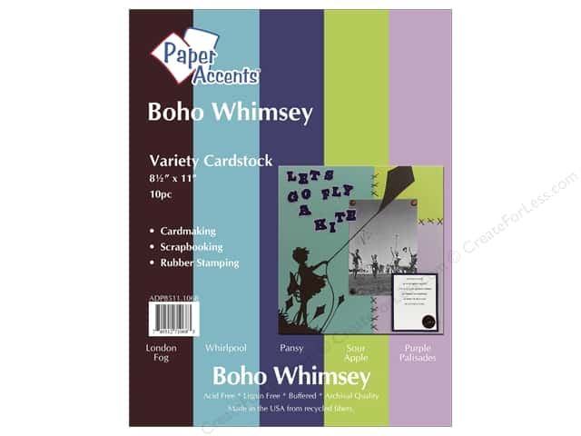 Cardstock Variety Pack 8 1/2 x 11 in. Boho Whimsey 10 pc. by Paper Accents
