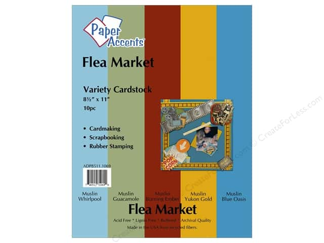 Cardstock Variety Pack 8 1/2 x 11 in. Flea Market 10 pc. by Paper Accents