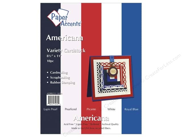 Cardstock Variety Pack 8 1/2 x 11 in. Americana 10 pc. by Paper Accents