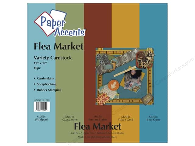 Cardstock Variety Pack 12 x 12 in. Flea Market 10 pc. by Paper Accents