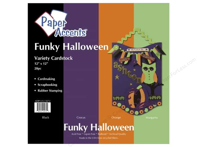 Cardstock Variety Pack 12 x 12 in. Funky Halloween 20 pc. by Paper Accents