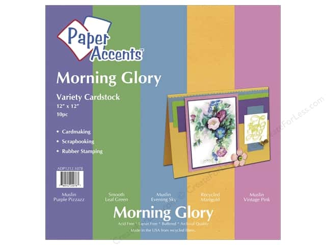 Cardstock Variety Pack 12 x 12 in. Morning Glory 10 pc. by Paper Accents