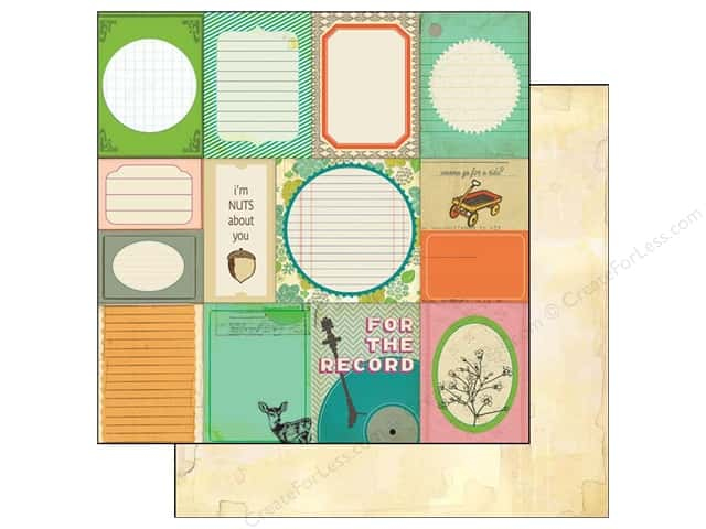 Crate Paper 12 x 12 in. Paper Acorn Ave Accent Cuts (25 pieces)