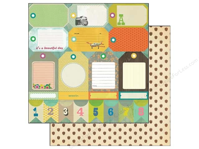 Crate Paper 12 x 12 in. Paper Acorn Ave Tag Cuts (25 pieces)