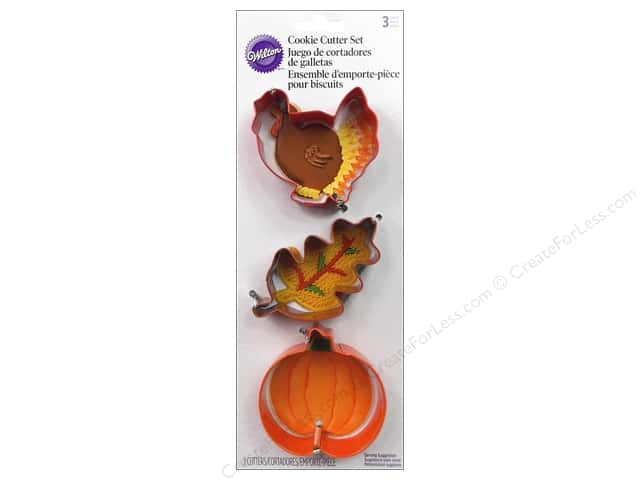 Wilton Cookie Cutter Set Metal Harvest 3pc