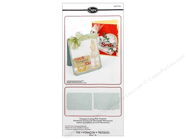 Sizzix Bigz XL Die Card Fronts Notched & Beveled by Rachael Bright