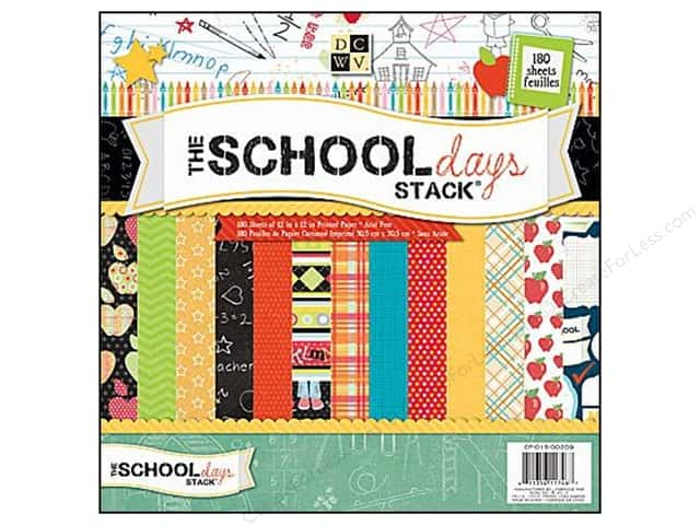 DieCuts 12 x 12 in. Paper Stack The School Days