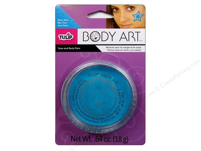 Tulip Body Art Body Paint Neon Blue