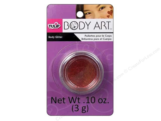 Tulip Body Art Body Glitter 0.10oz Red