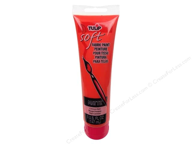 Tulip Soft Fabric Paint Matte 5 oz. Crimson Red