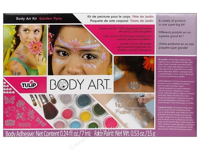 Tulip Body Art Paint Kit Garden Party