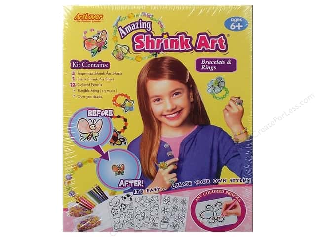 Darice ArtLover Kit Shrink Art Bracelet & Rings