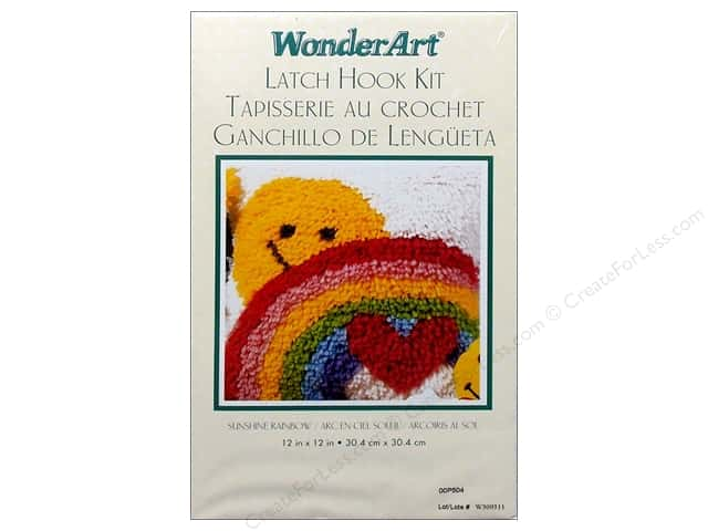 "Caron WonderArt Latch Hook Kit 12""x 12"" Sunshine Rainbow"