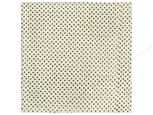 "Making Memories Paper 12""x 12"" Millinery Net Mini Dot Black (12 pieces)"