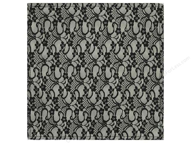 "Making Memories Paper 12""x 12"" Millinery French Lace Black (12 sheets)"