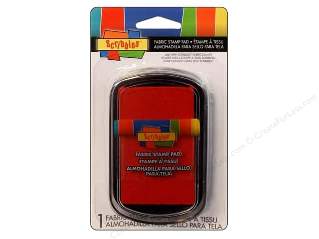 Scribbles Fabric Stamp Pad Red