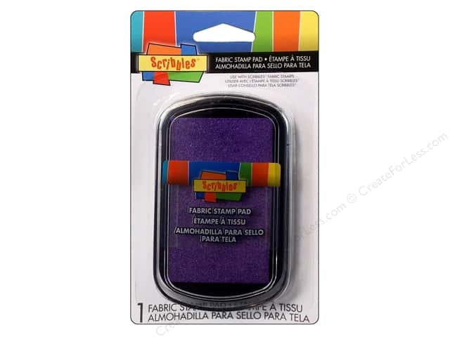 Scribbles Fabric Stamp Pad Purple