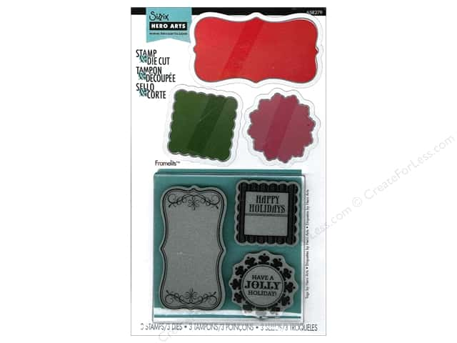 Sizzix Framelits Die Set 3PK with Stamps Tags by Hero Arts