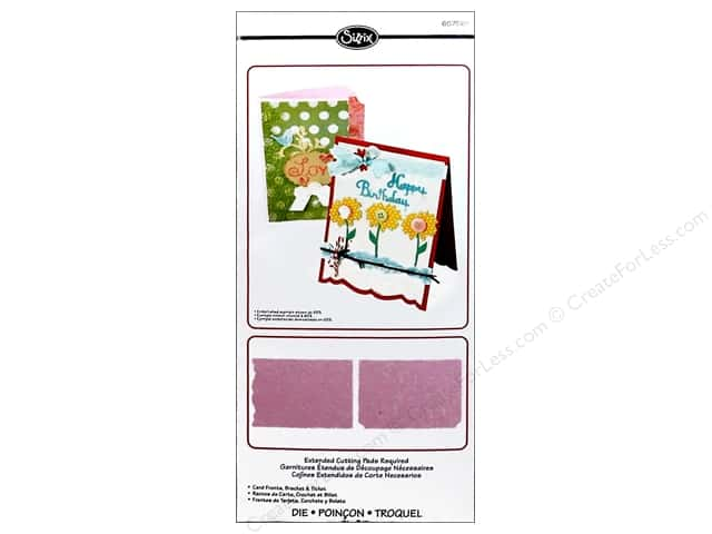 Sizzix Bigz XL Die Card Fronts Bracket & Ticket by Rachel Bright