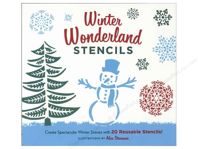 Chronicle Winter Wonderland Stencils Book by Alice Stevenson