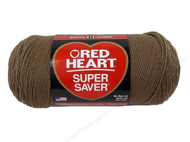 Red Heart Super Saver Jumbo Yarn #0360 Cafe Latte 744 yd.
