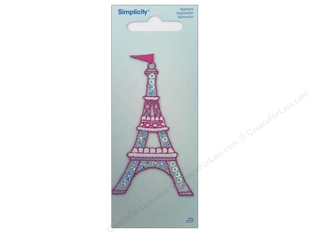 Simplicity Iron On Applique Eiffel Tower