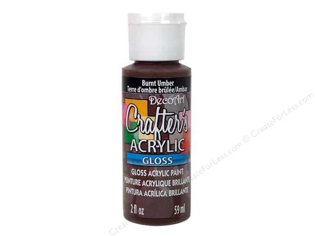 DecoArt Crafter's Acrylic Paint 2 oz. #G16 Gloss Burnt Umber