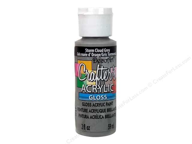 DecoArt Crafter's Acrylic Paint 2 oz. #G94 Gloss Storm Cloud Gray