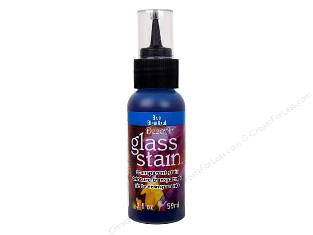 DecoArt Glass Stain 2oz Transparent Blue