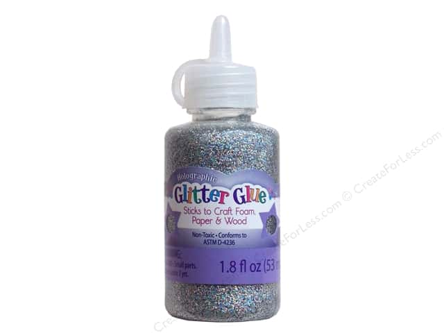 Sulyn Glitter Glue 1.8oz Holographic Silver Rainbow