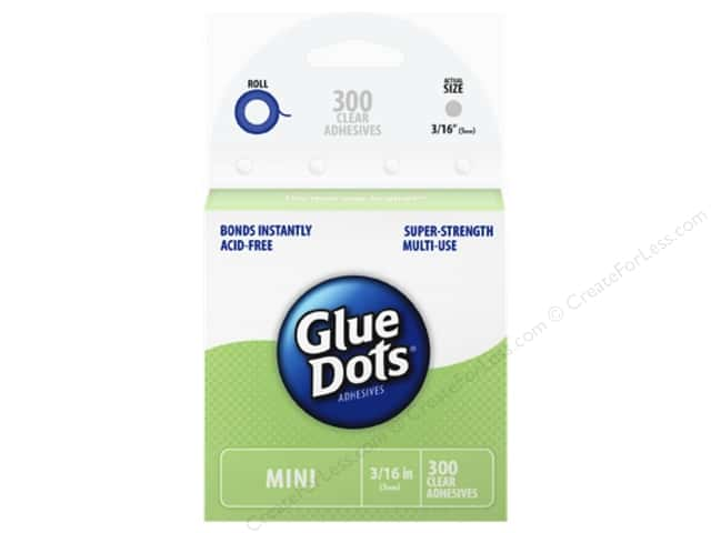 "Glue Dots Mini 3/16"" Box Clear 300pc"