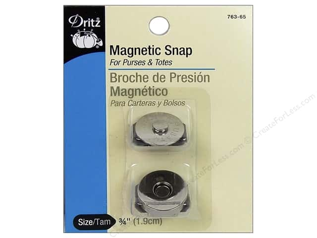 Magnetic Snaps by Dritz 3/4 in. Nickel 2 pc.