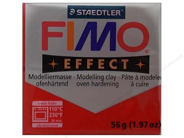 Fimo Soft Clay 56gm Glitter Red