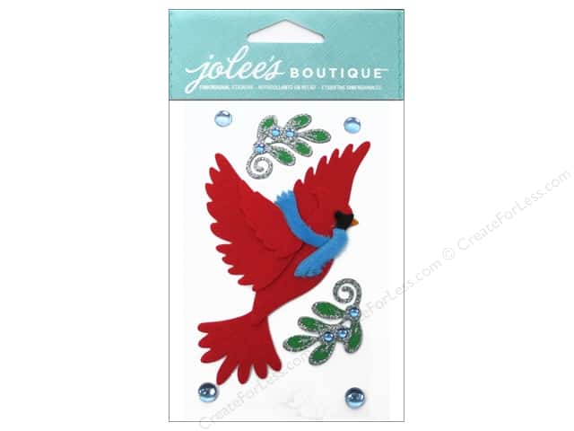 Jolee's Boutique Stickers Cardinal