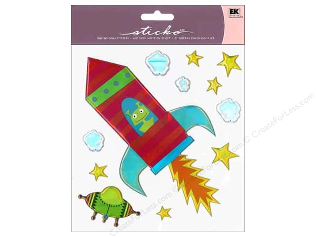 EK Sticko Stickers Big Space Ship