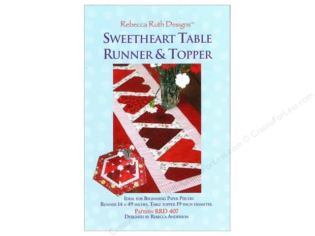 Rebecca Ruth Designs Sweetheart Table Runner & Topper Pattern
