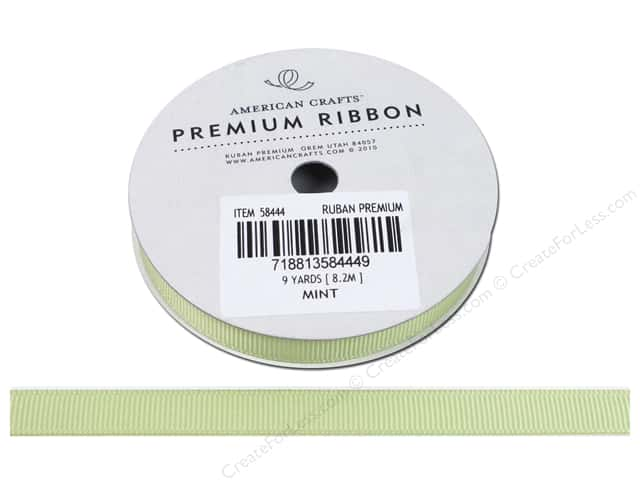 American Crafts Grosgrain Ribbon 3/8 in. x 9 yd. Mint