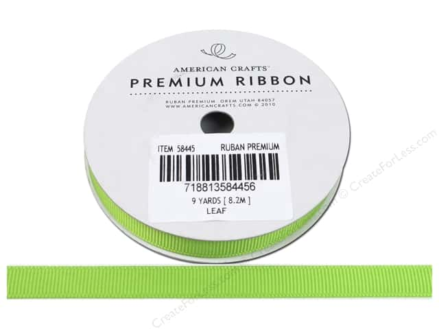 American Crafts Grosgrain Ribbon 3/8 in. x 9 yd. Leaf