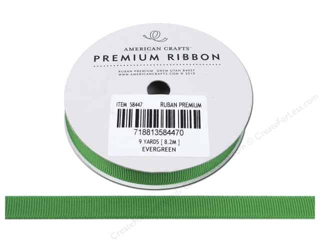 American Crafts Grosgrain Ribbon 3/8 in. x 9 yd. Evergreen