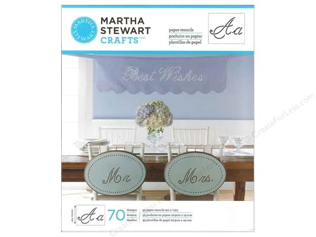 Martha Stewart Stencils by Plaid Paper Alphabet Script