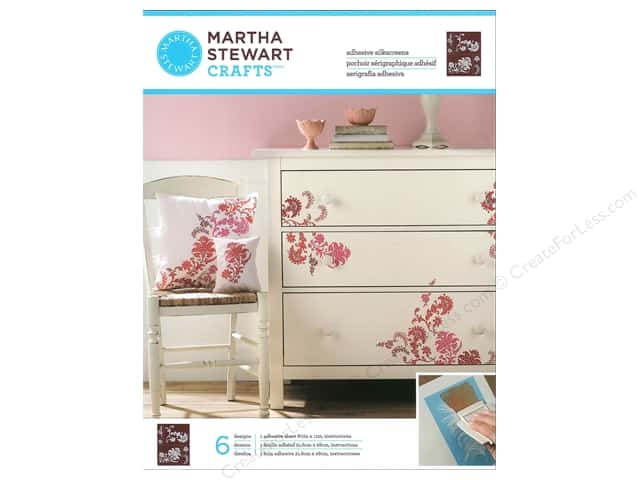 Martha Stewart Stencils by Plaid Adhesive Silkscreen Exotic Blossoms