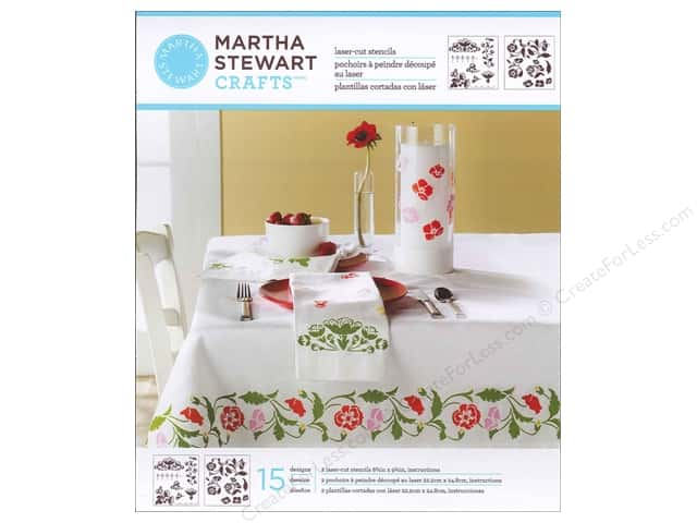 Martha Stewart Stencils by Plaid Flower Vines